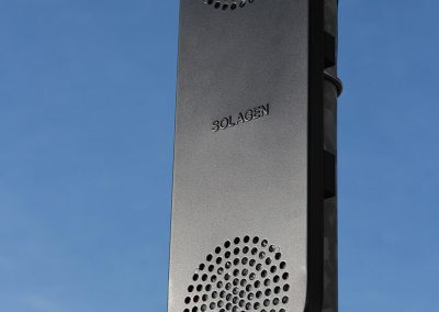 Part of an electronic road sign