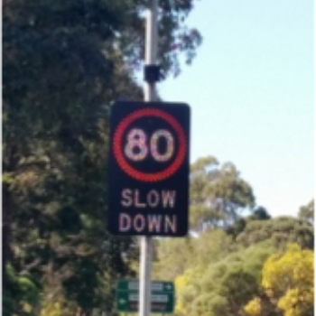 electronic road signs - solar powered speed signs australia